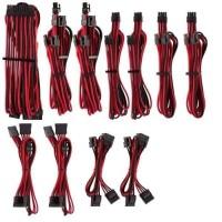 CORSAIR Kit pro de câbles pour alimentation type 4 Gen 4 Premium ? Rouge/Noir (CP-8920226)