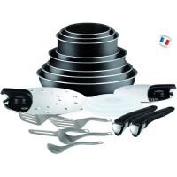 INGENIO ESSENTIAL L2009702 Batterie de cuisine - 20 pieces - Noir - Tous feux sauf induction