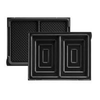 LAGRANGE Accessoires 020422 Jeu de plaques a croque-monsieur Tarti' Gaufres