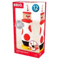 BRIO - 30230 - Clown A Empiler 60 Ieme Anniversaire - Jouet en bois