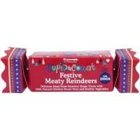 ROSEWOOD Boîte de Noël cadeau avec friandises Rennes - Pour chien - 150 g