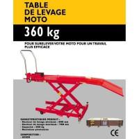 Table de levage moto 365Kg : Autoselect