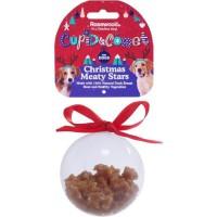 ROSEWOOD Boule de Noël étoile avec friandises - Pour chien - 80 g