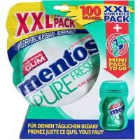 MENTOS GUM PURE FRESH Pochon de 100 dragées sans sucres + bottle nano - Fresh chloro