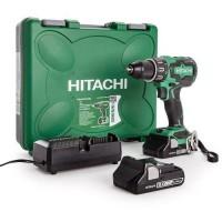 HITACHI Perceuse visseuse a percussion 18V - 2 batteries (3Ah) - Chargeur - Coffret - DV18DBFL2/JM