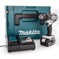 MAKITA Perceuse-visseuse a percussion DHP482RM1J - Livrée avec 1 batterie 18 V, chargeur rapide et coffret Makpac