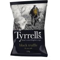 TYRRELL'S Chips de pommes de terre Lisses Sachet de Truffe Noire - 150 g