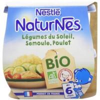NESTLE Naturnes BIO Légumes du soleil Semoule et poulet 2X190G