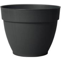 DEROMA Pot de fleur rond Ninféa a réserve d'eau - Ø 40 x H 31 cm - 26,5 L - Gris anthracite