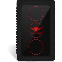 "SPIRIT OF GAMER Boîtier externe RGB Gaming Safebox pour disques durs 2,5"""