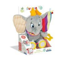 CLEMENTONI Disney Baby - Peluche Premieres activités Dumbo - Jeu d'éveil