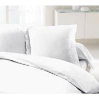 LOVELY HOME Lot de 2 Taies d'Oreillers 100% coton 63x63 cm blanc