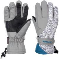 STARLING Gants de Ski Enfant Mixte - Gris et Blanc
