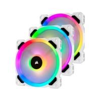 CORSAIR Ventilateur LL120 Pro LED RGB 120mm Blanc (Pack de 3) - (CO-9050092-WW)