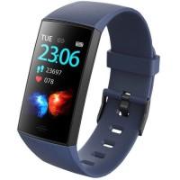 WEE'PLUG Bracelet connecté SB18+ - Multisports - Cardio au poignet - Bluetooth - Waterproof - Bleu foncé