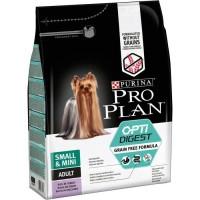 PRO PLAN Croquettes riche en dinde Sensitive Digestion 2,5kg - Formule sans céréales - Pour chien adulte de petite taille - 2,5
