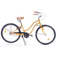 "Vélo 26"" CTB Cruiser- Femme - Jaune et blanc"