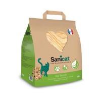 SANICAT Litiere en bois recyclé, compostable et recyclable - Pour chat