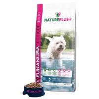 EUKANUBA Croquette Nature Plus+ riche en Saumon fraichement congelé - Pour chien adulte petit race - 14 kg