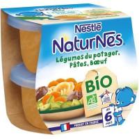 NESTLE Naturnes BIO Légumes pâtes boeuf 2X190G