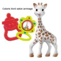SOPHIE LA GIRAFE Sac Cadeau Bébé Coton Coloris Aléatoire