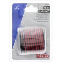 ELOTO Câble électrique 2 X 0,5mm² : 10m