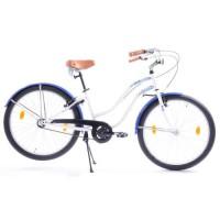 "Vélo 26"" Blanc et Bleu"