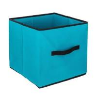 Tiroir de rangement - 31 x 31 cm - Bleu turquoise