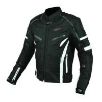 Blouson Moto Textile Noir et Blanc - Protections CE
