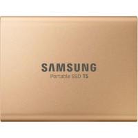 SAMSUNG - Disque SSD Externe - T5 doré - 500 Go (MU-PA500G/EU)