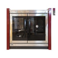 ARTWOOD Cuisiniere bois STRONG inox/rouge 10kW
