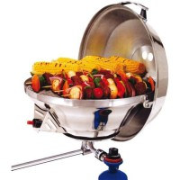 MAGMA Barbecue Combine Inox Gaz D.368Mm