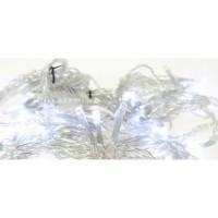 BLACHERE Rideaux Flicker 96 LED Blanc auto-flash - L 2 x H 2 m - Connectable 3 fois - Câble Argent 24V
