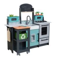 KidKraft - Cuisine pour enfant en bois Garden Gourmet - 53442 - accessoires inclus - son et lumiere - assemblage EZkraft