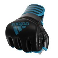 ADIDAS Gants MMA protection pouce - Noir et bleu