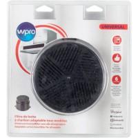 WPRO UNF001 Filtre de hotte a charbon universel (adaptable tous modeles) - Diametre 153 mm - Auto-extinguible