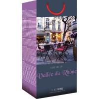 CLASSWINE Pochette pour 2 bouteilles vin des Côtes du Rhône Terrasse
