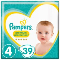 PAMPERS Premium Protection Taille 4 9-14 kg - 39 Couches