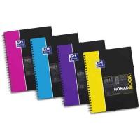 OXFORD Cahier Nomadbook - Polypropylene - Avec chemise intégrée - 160 pages - 24 x 31 cm Ligne Etudiant