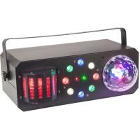 IBIZA LIGHT 16-2060 Effet de lumiere 4 en 1 - Stroboscope / Astro / Derby / Laser - 18 LED 3 W