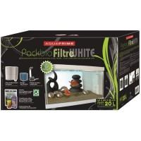 TYROL Pack Aquarium + Alimentation + Biofiltre - Blanc - 20 L