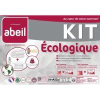 ABEIL Pack ECOLOGIQUE COTON BIO - 1 Couette 200x200 cm + 1 Oreiller 60x60 cm - Coton Bio