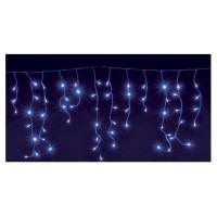 CHRISTMAS DREAM Guirlande stalactite 180 LED bleu - 3,50 x 0,56 m - 24 V - 8 jeux de lumiere - Contrôleur de mémoire