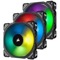 CORSAIR Ventilateur ML120 Pro RGB - Diametre 120mm - LED RGB - Lightning Node Pro - Triple Pack (CO-9050076-WW)