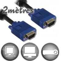 Câble VGA HD15 Mâle / Mâle - 2m
