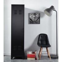 LIVERPOOL Meuble étagere métal noir - L 50 x P 43 x H 180 cm