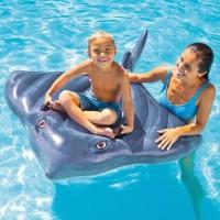 INTEX Matelas Gonflable enfant Raie Manta a Chevaucher pour piscine 188 x 145 Cm