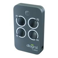 DIAGRAL BY ADYX Télécommande 4 touches sécurité commande pour motorisations portails, portes de garages et volets