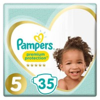 PAMPERS Premium Protection Taille 5 - De 11 a 23kg - 35 Couches