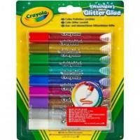 Crayola - 9 Colles pailletées lavables -